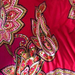 Beautiful Maxi pink/red/gold dress 🌺.